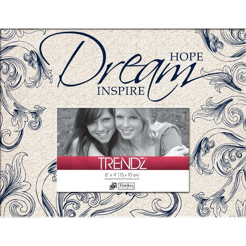Trendz Hope Dream Inspire Decoupage Tabletop Photo Frame