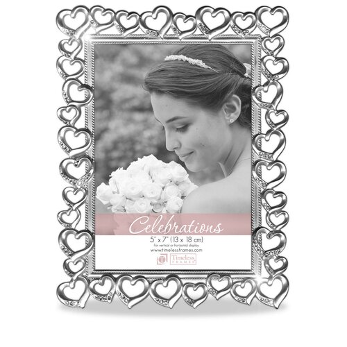 Timeless Frames Silver Hearts Picture Frame