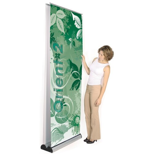 Exhibitor's Hand Book Multiple Size Double Sided Orient 2 Banner Stand