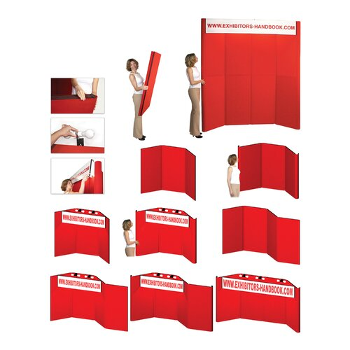 Exhibitor's Hand Book Hero H07 Folding Display Panel with Backlit Header and Curved Edges