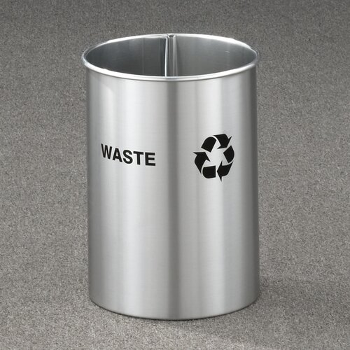 RecyclePro Dual Stream Open Top 5 Gallon Recycling Waste Basket