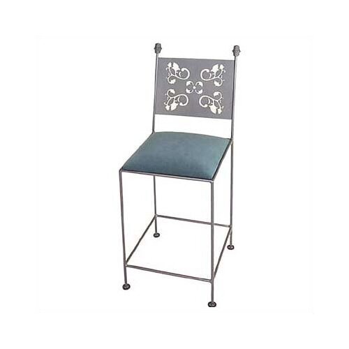 "Grace Collection Leaves 30"" Arm Bar Stool"