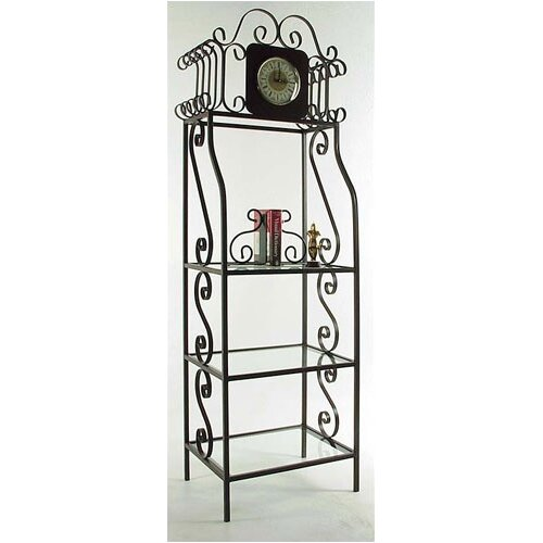 "Grace Collection 79"" H Clock Etagere with Shelves"