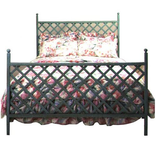 Grace Collection Lattice Wrought Iron Headboard