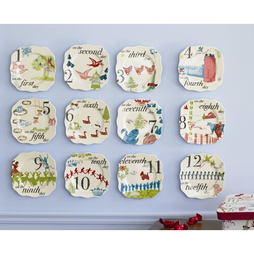 12 Days of Christmas Trinket Dish (Set of 12)