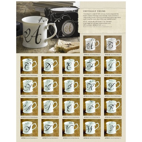 Rosanna Initially Yours Tankard Mug