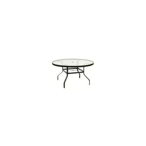 KD Round Glass Dining Table with Hole