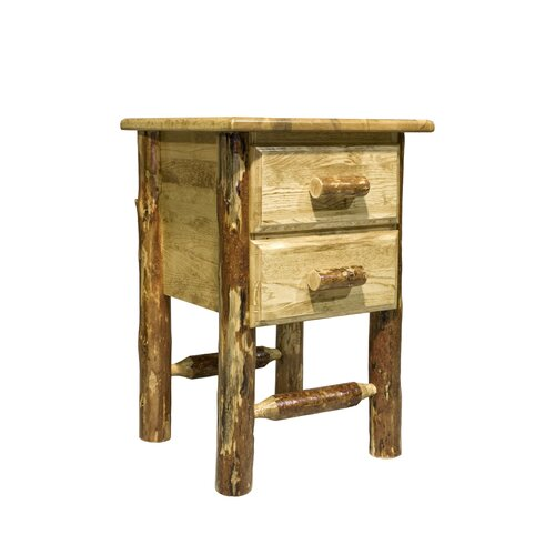 Montana Woodworks® Glacier Country 2 Drawer Nightstand