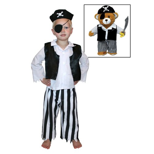 Pirate Stuffed Animal Bear Dress Up Set
