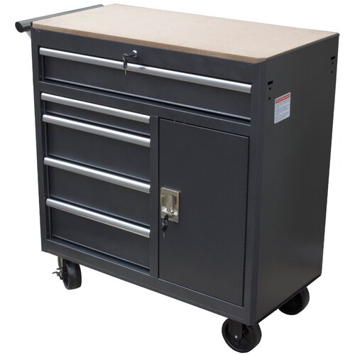 Quot wide drawer roll away tool cabinet wayfair