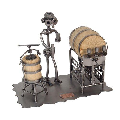 Wine Taster Desk Sculpture Wine Bottle Holder