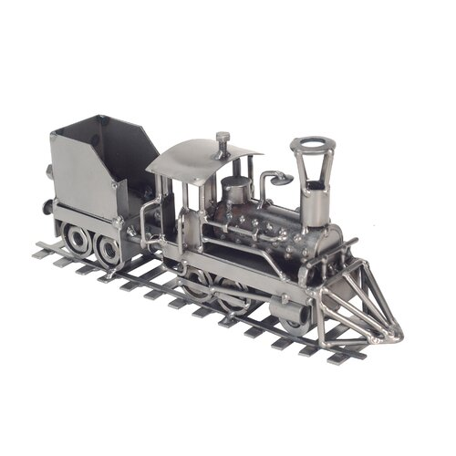 H & K SCULPTURES Locomotive Train Sculpture