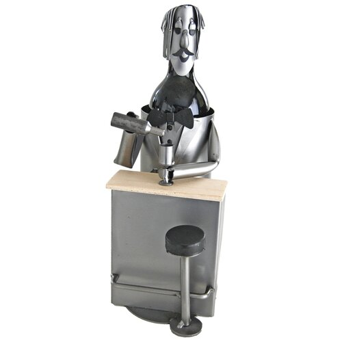 H & K SCULPTURES Bartender 1 Bottle Wine Bottle Holder