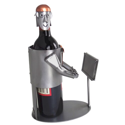 H & K SCULPTURES Video Gamer Wine Bottle Holder