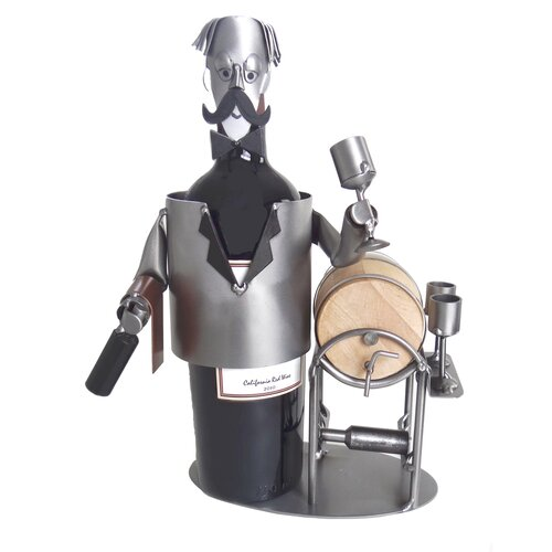 H & K SCULPTURES Wine Steward Wine Caddy