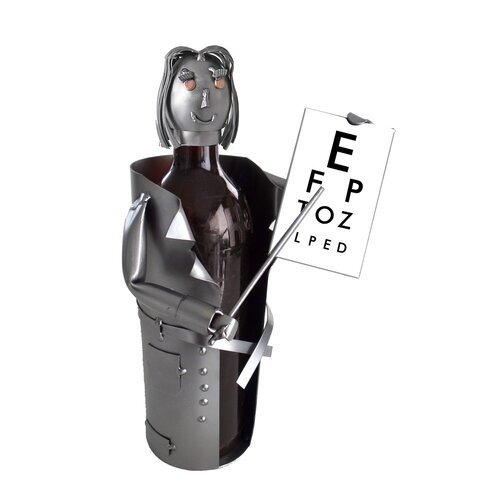 Female Eye Doctor Wine Bottle Holder