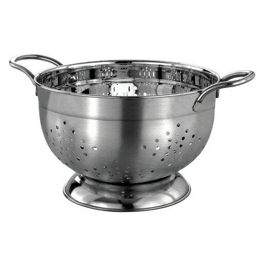 Gourmet Chef Professional Heavy Duty Stainless Steel German Colander with Wire Handles