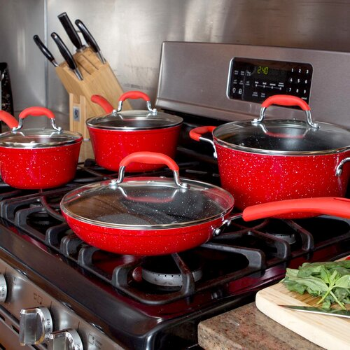 Gourmet Chef Nonstick Ceramic 8-Piece Cookware Set