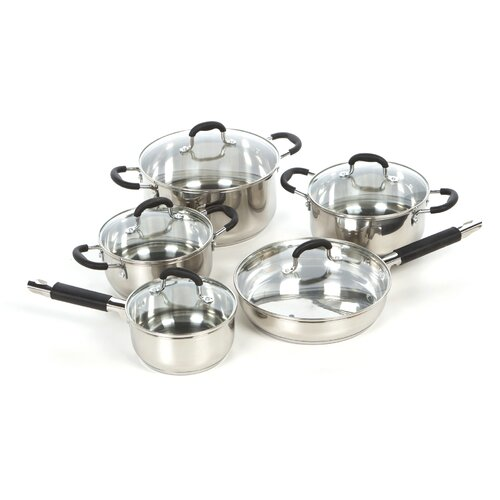 Gourmet Chef Stainless Steel 15-Piece Cookware Set