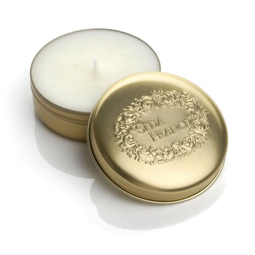 Seda France Classic Toile Pink Pomegranate Travel Candle