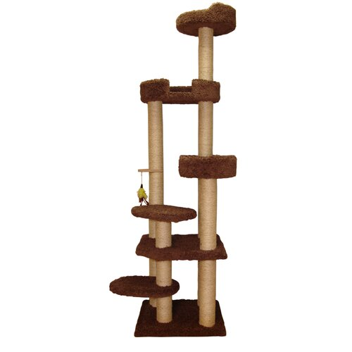 "Family Cat 79"" Cat Tower with Sky Lounger and Lookout"