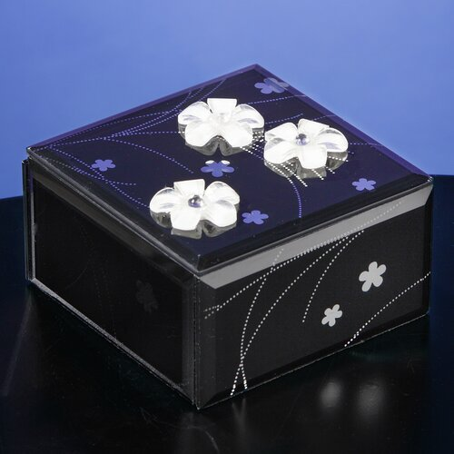 San Francisco Music Box Midnight Elegance Glass Music Box