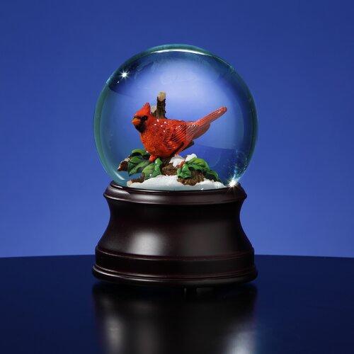 San Francisco Music Box Holiday Cardinal Snow Globe