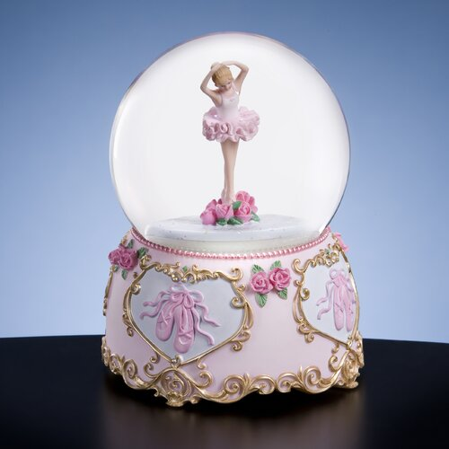 San Francisco Music Box Ballerina and Bows Water Globe