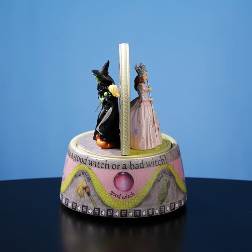 San Francisco Music Box The Wizard of Oz Good Witch/Bad Witch Rotating Figurine