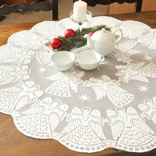 Heritage Lace Glorious Angel Round Table Topper