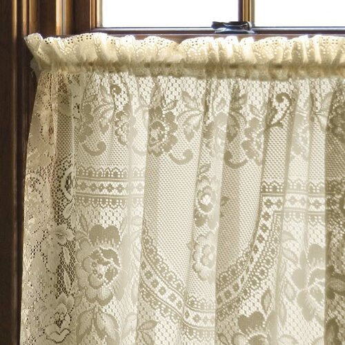 Heritage Lace Victorian Rose Single Curtain Panel