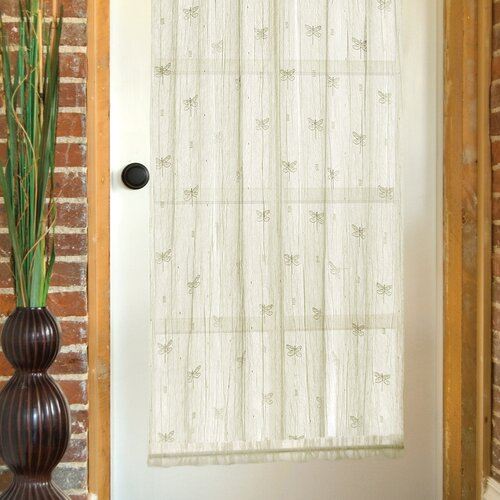 Heritage Lace Dragonfly Rod Pocket Curtain Single Panel