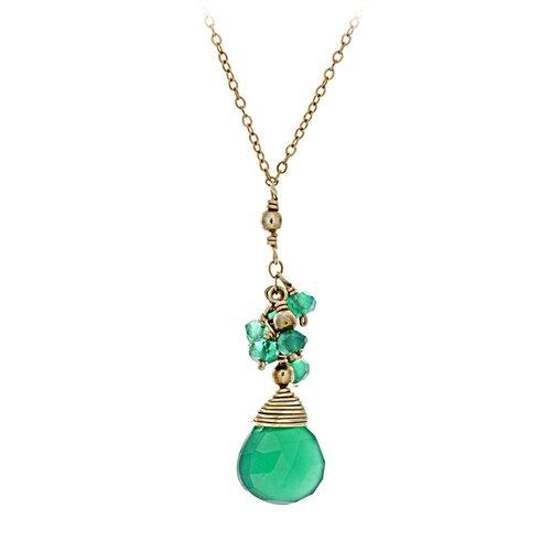 14k Gold Onyx Pendant Necklace