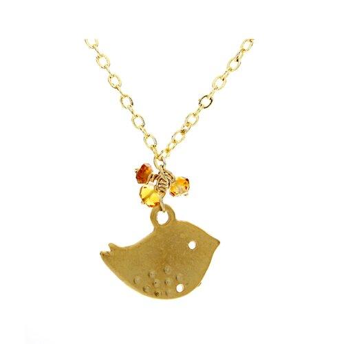 Rafia Jewelry Metal Sparrow Citrine Pendant Necklace