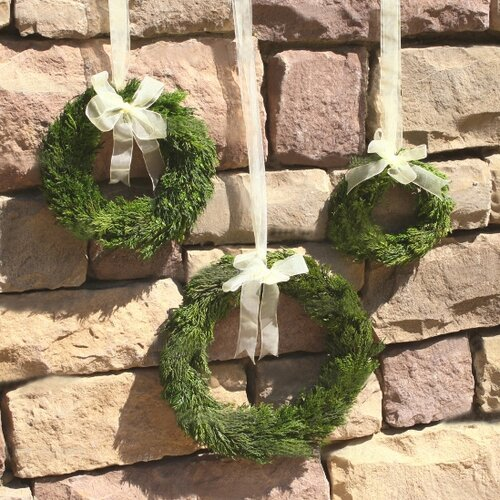 Mills Floral Cypress Round Wreath