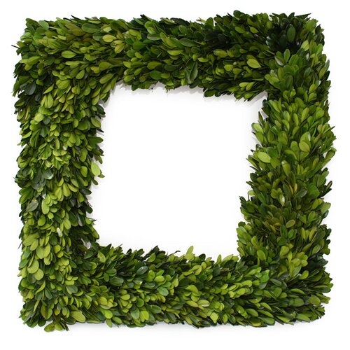 Mills Floral Boxwood Square Wreath