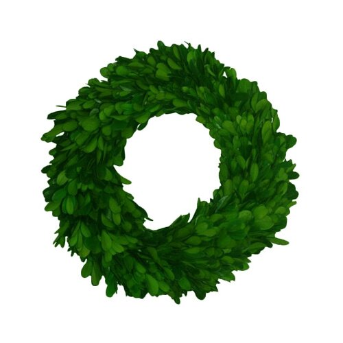 Mills Floral Boxwood Single Side Round Wreath
