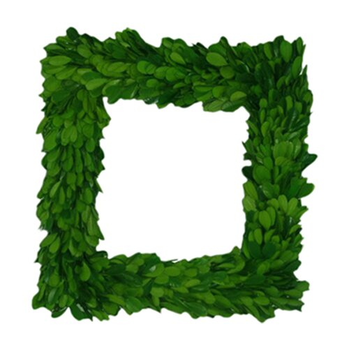 """Mills Floral Boxwood 11"""" Square Wreath"""