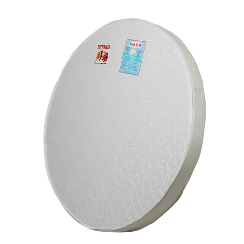 "Dream On Me 4"" Thick Round Crib Mattress"