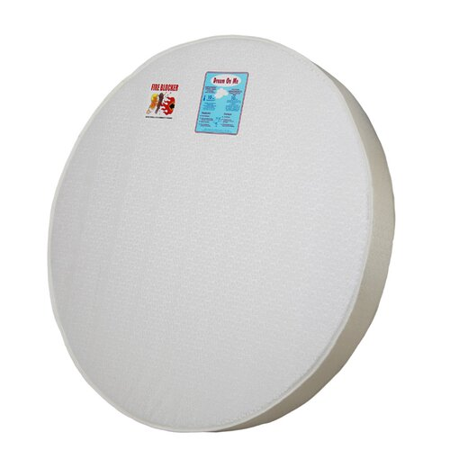 "Dream On Me 5"" Thick Round Crib Mattress"