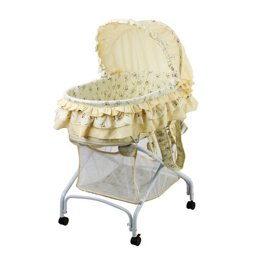 Dream On Me 2 in 1 Bassinet to Cradle in Yellow
