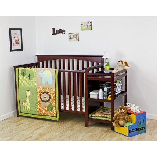 Safari Animals 3 Piece Crib Bedding Set