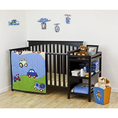 Travel Time 3 Piece Crib Bedding Set
