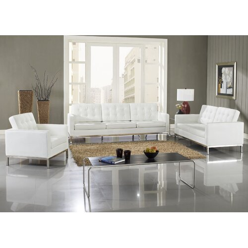 Loft 5 Piece Leather Sofa Set