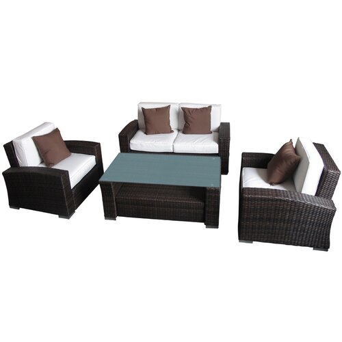 Modway Harmony 4 Piece Outdoor Patio Sofa Set