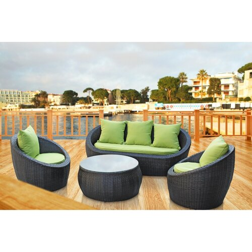 Modway Triumph 4 Piece Outdoor Patio Sofa Set