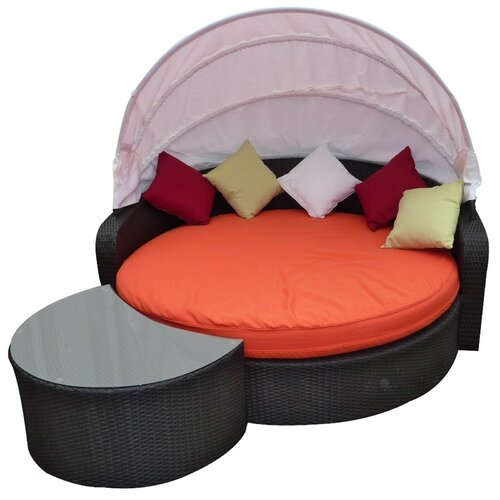 Modway Perectiona Outdoor 2 Piece Daybed Set with Cushions