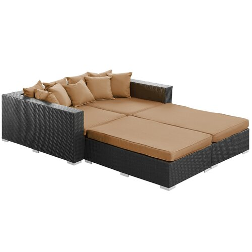 Fence 4 Piece Outdoor Patio Daybed