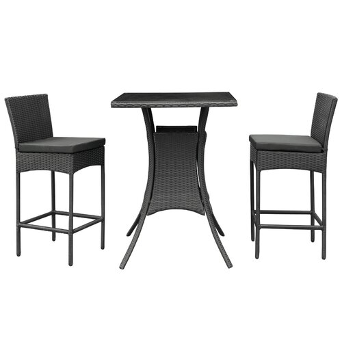 Bevanda 3 Piece Outdoor Patio Pub Set