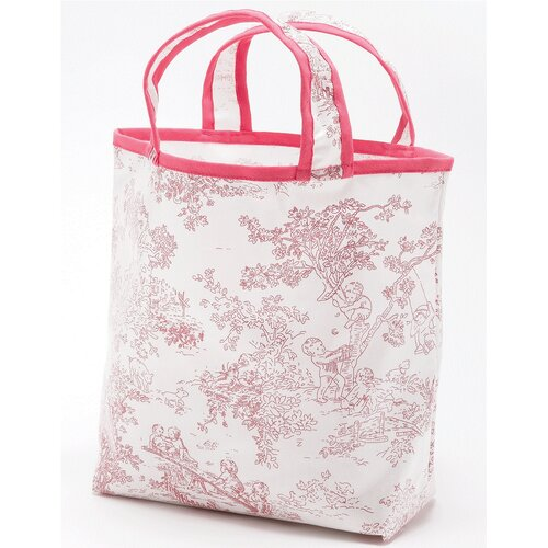 Toile Sunday Tote Diaper Bag